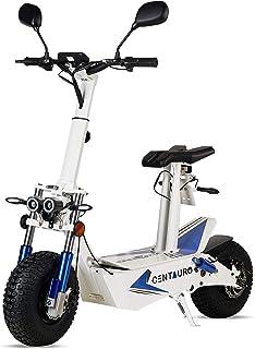 ECOXTREM Centauro - Patinete eléctrico Blanco con sillín, Motor 3000W Brushless y matriculable. Ideal para desplazamientos...
