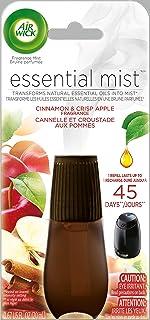 Air Wick Essential Oils Diffuser Mist Refill, Cinnamon and Crisp Apple, 1ct, Air Freshener (RAC98553)