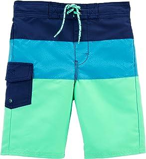 Salabomia 2Pcs Rashguard Swim Trunks Sets Soft Swimwear for Toddler//Youth Boys, Ages 5-16Years Old
