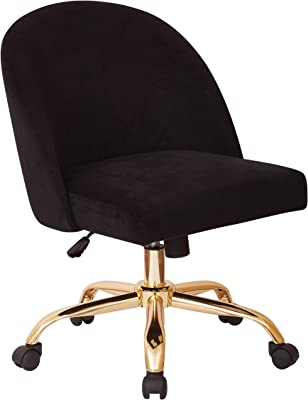 Amazon Com Kmax Office Desk Chair Velvet Makeup Arm Chair Gold Base Teal Kitchen Dining