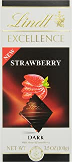 Lindt Chocolate Excellence Dark Strawberry Bar, 3.5 Ounce (Pack of 12)