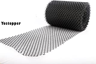 Gutter Guard Cutters Cover Flexible Drain Mesh Protector Roll for Rain Leaves Black, Wide 7 Inch×Length 26 Feet