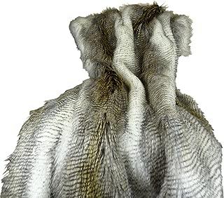 Thomas Collection Beige Gold Fur Throw Blanket & Bedspread - Alaskan Hawk Faux Fur - White Gray Beige Gold Faux Fur - Luxury Soft Throw Blanket & Bedspread, Handmade in US, 16408