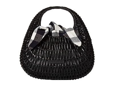Loeffler Randall Lorna Wicker Tote (Black) Tote Handbags