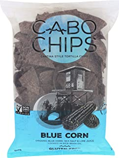 CABO CHIPS Tortilla Chips Blue Corn Cantina Style, 10 OZ