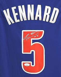 Luke Kennard Detroit Pistons Signed Autographed Blue #5 Jersey JSA COA