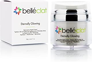 Anti Aging Cream Moisturizer for Face - Belléclat Night Cream DNA Repair Restores and Rejuvenates Youthful Skin, 1 oz
