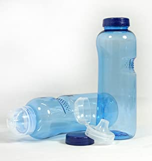 2 x Drinks Bottle 0.75 Litres with Sports Lid Water Bottle Tritan (Bisphenol A-Free) by IMHA
