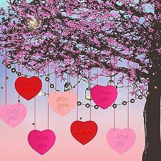 LUCKKYY عيد الحب شنقا القلب - ديكورات الحديقة عيد الحب - ديكورات خارجية لفناء عيد الحب
