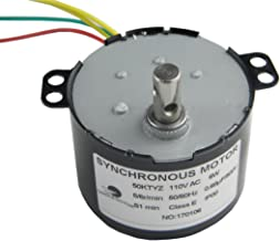 CHANCS 50KTYZ AC 110V 5/6RPM Synchronous Motor 6W CE Pass Gear Box Motor