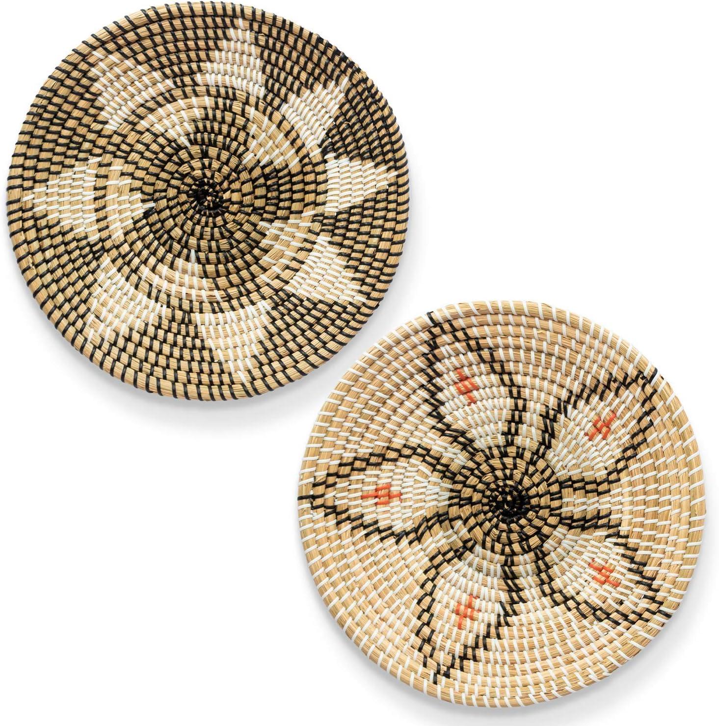 HNCmua Genuine Free Shipping Woven Tampa Mall Basket Wall Decor - Wicker Rattan Set