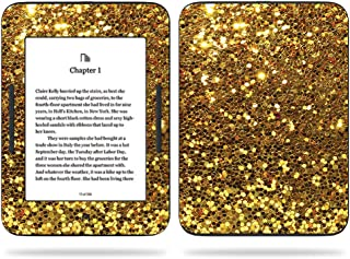 MightySkins Skin Compatible With Barnes & Noble NOOK GlowLight 3 (2017) - Gold Dazzle | Protective, Durable, and Unique Vinyl Decal wrap cover | Easy To Apply, Remove | Made in the USA