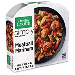 Healthy Choice Simply Steamers Frozen Dinner, Meatball Marinara, 10 Ounce