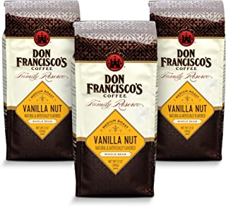 Don Francisco's Whole Bean Vanilla Nut Flavored Coffee (3 x 12-Ounce Bags)