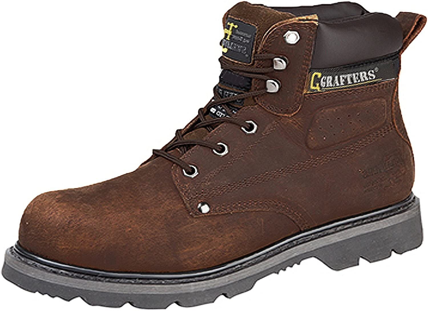 Grafters Gladiator Mens Boots Safety Toe Cap And Steel Midsole Goodyear Welted