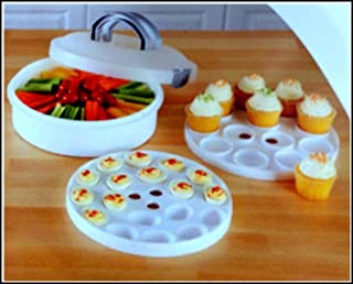 Mainstays 3-in-1 Round Cupcake Egg & Food Carrier Container