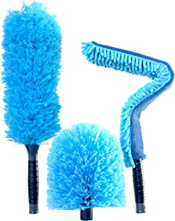 EVERSPROUT Duster 3-Pack | Hand-Packaged Cobweb Duster, Microfiber Feather Duster, Flexible Ceiling Fan Duster | Twists onto Standard 3/4 inch Acme Threaded Poles (no Pole) (Soft Bristles)