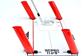 EyeLine Golf Speed Trap 1.0 - Unbreakable Base, Red Speed Rods and Carry Bag; Shape Shots and Eliminate a Slice or Hook - ...
