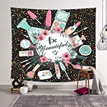 Ladies Makeup Photography Backdrop for Wedding, 6x6FT, Beautiful Newlyweds Bridal Party Background, Bachelorette Banner Ph...