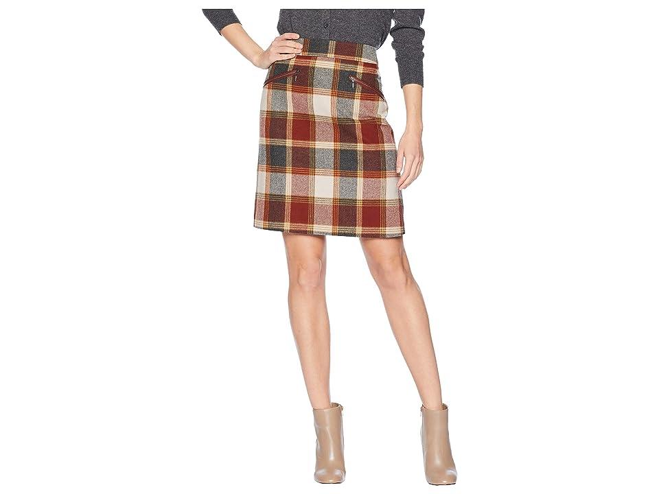 60s Skirts | 70s Hippie Skirts, Jumper Dresses Pendleton Marlowe Wool Skirt Burgundy Block Plaid Womens Skirt $189.00 AT vintagedancer.com