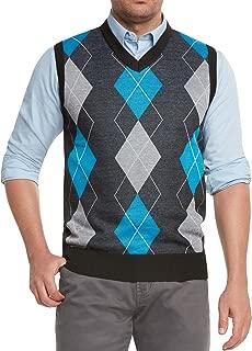 True Rock Men's Argyle V-Neck Sweater Vest