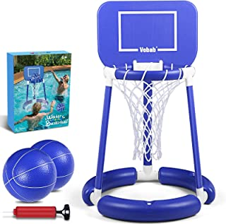 JUOIFIP Pool Basketball Hoop Floating Basketball Hoop for Swimming Pool Water Basketball Hoop for Kids Adults Competitive ...
