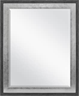MCS 22x28 Inch Wall Mirror, 28x34 Inch Overall Size, Concrete with Silver Finish