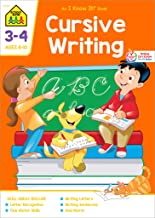 School Zone - Cursive Writing Workbook - 32 Pages, Ages 8 to 10, 3rd Grade, 4th Grade, Practice Handwriting, Tracing, Letters, Words, Sentences, and More (An I Know It! Book)