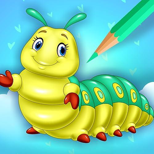 Cute Bugs Coloring Book