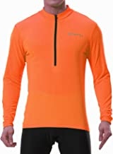 Spotti Men's Cycling Bike Jersey Long Sleeve with 3 Rear Pockets - Moisture Wicking, Breathable, Quick Dry Biking Shirt