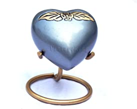 Vintage King Cremation Heart Urn for Human Ashes - Premium Heart Urn Stand - Honor Your Loved One with Small Lavender Purp...