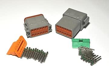Deutsch DT Series 12 Pin Connector Kit w/Barrel Style Terminals 14-16 AWG