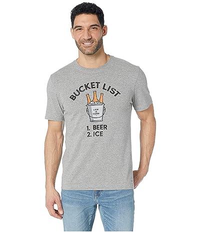 Life is Good Bucket List Crusher Tee (Heather Gray) Men