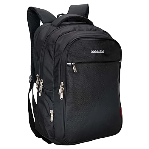 6f5e4341de3 Cosmus Atomic Dx 3 Compartment Large Laptop Bag - Black Polyester Waterproof  Laptop Backpack