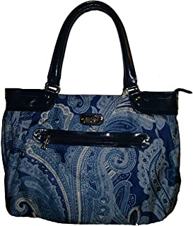 Luggage Spoonful of Sugar Laptop Tote, Blue Paisley