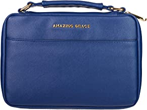 Amazing Grace LuxLeather Bible Cover in Navy - Medium