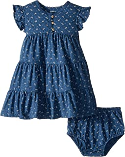 Floral Flutter Sleeve Dress (Infant)