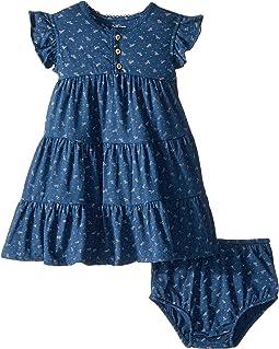 Floral Flutter Sleeve Dress (Infant)