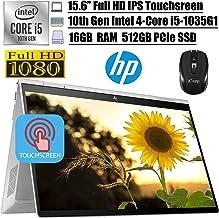"2020 Newest HP Envy x360 2 in 1 Business Laptop, 15.6""FHD IPS Touchscreen, Intel Quad-Core i5-1035G1(>i7-8550U), 16GB DDR..."