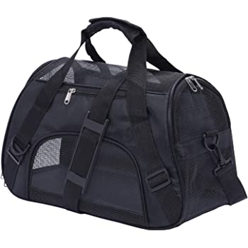 PPOGOO Pet Carriers for Small Cats and Dogs 17x7.5x11 Pet Travel Carrier Airline Approved
