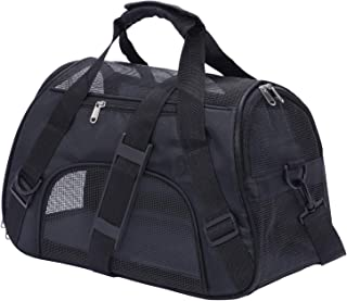 PPOGOO Pet Carriers for Small Cats and Dogs 17x11x7.5 22lb(10kg),Pet Travel Carrier Airline Approved,Black