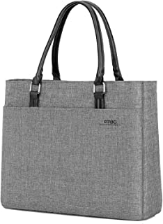 DTBG Laptop Tote Bag, 15.6 Inch Women Shoulder Bag Nylon Briefcase Casual Handbag Laptop Case for 15-15.9 Inch Tablet/Ultra-Book/MacBook/Chromebook (Grey)