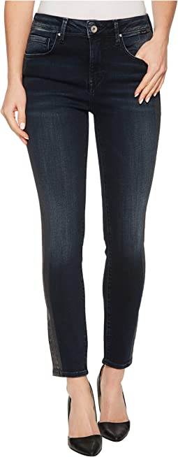 Mavi Jeans - Tess High-Rise Ankle Super Skinny in Tuxedo Gold Icon