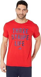 [adidas(アディダス)] メンズタンクトップ?Tシャツ 3-Stripe Life Camo T-Shirt [並行輸入品]