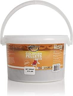 Omega One Goldfish Pellets, Sinking, 4mm Medium Pellets, 2.75 lb Bucket