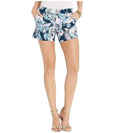 Lilly Pulitzer Callahan Knit Shorts (High Tide Navy Holy Flockamolie) Women