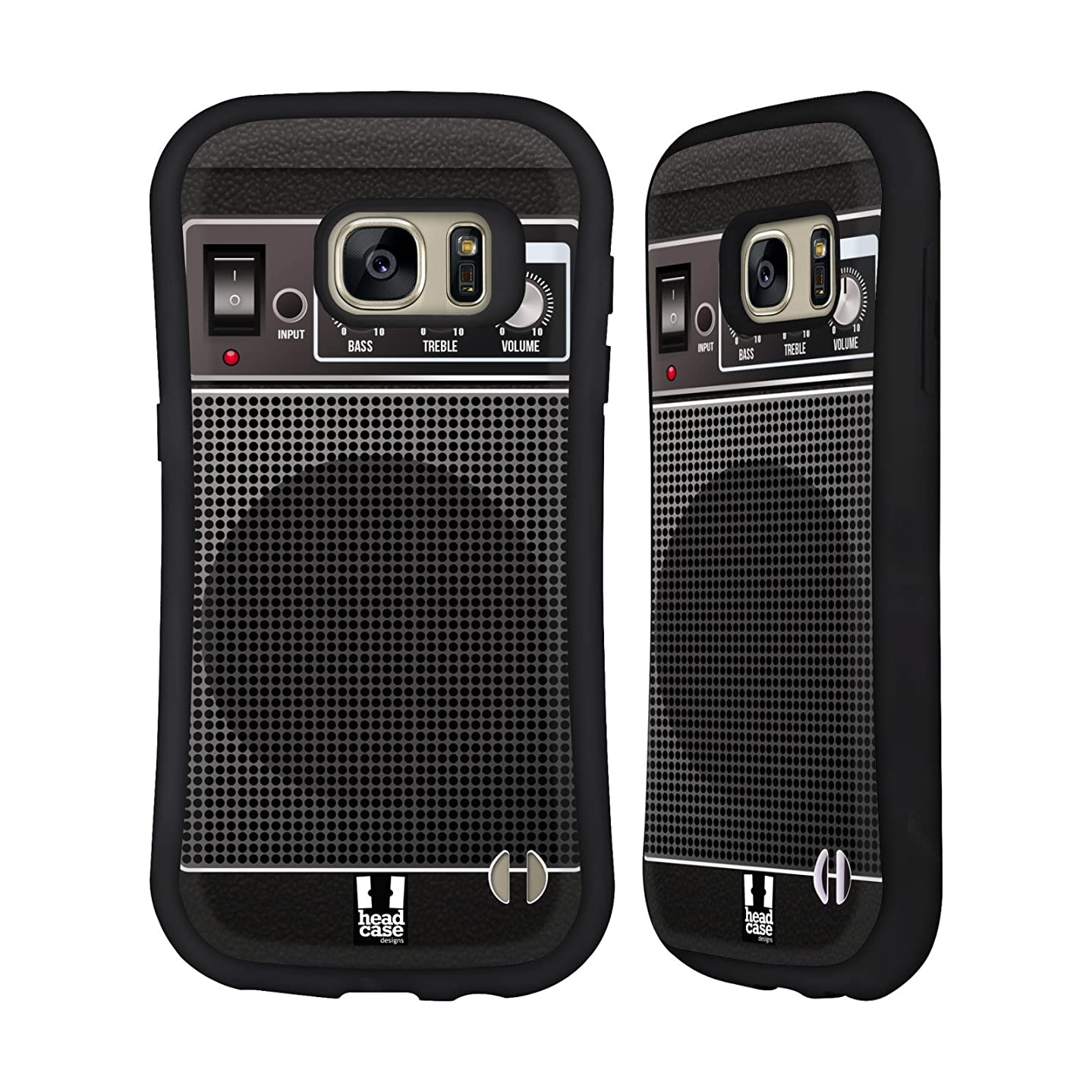 Head Case Designs Black Acoustic Guitar Amp Hybrid Case for Samsung Galaxy S7
