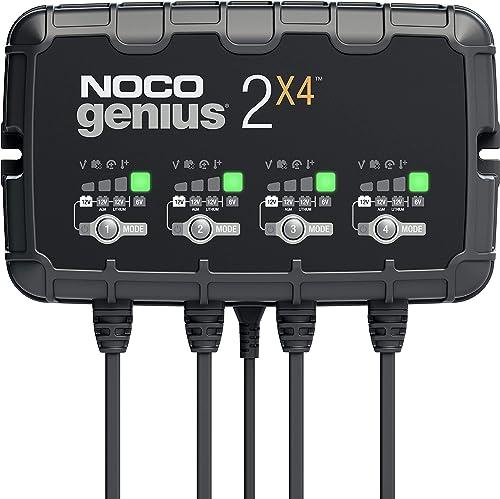 NOCO GENIUS2X4, Chargeur Intelligent de 8A (2A par Banque), Chargeur de Batterie 6V et 12V, Mainteneur de Batterie, C...