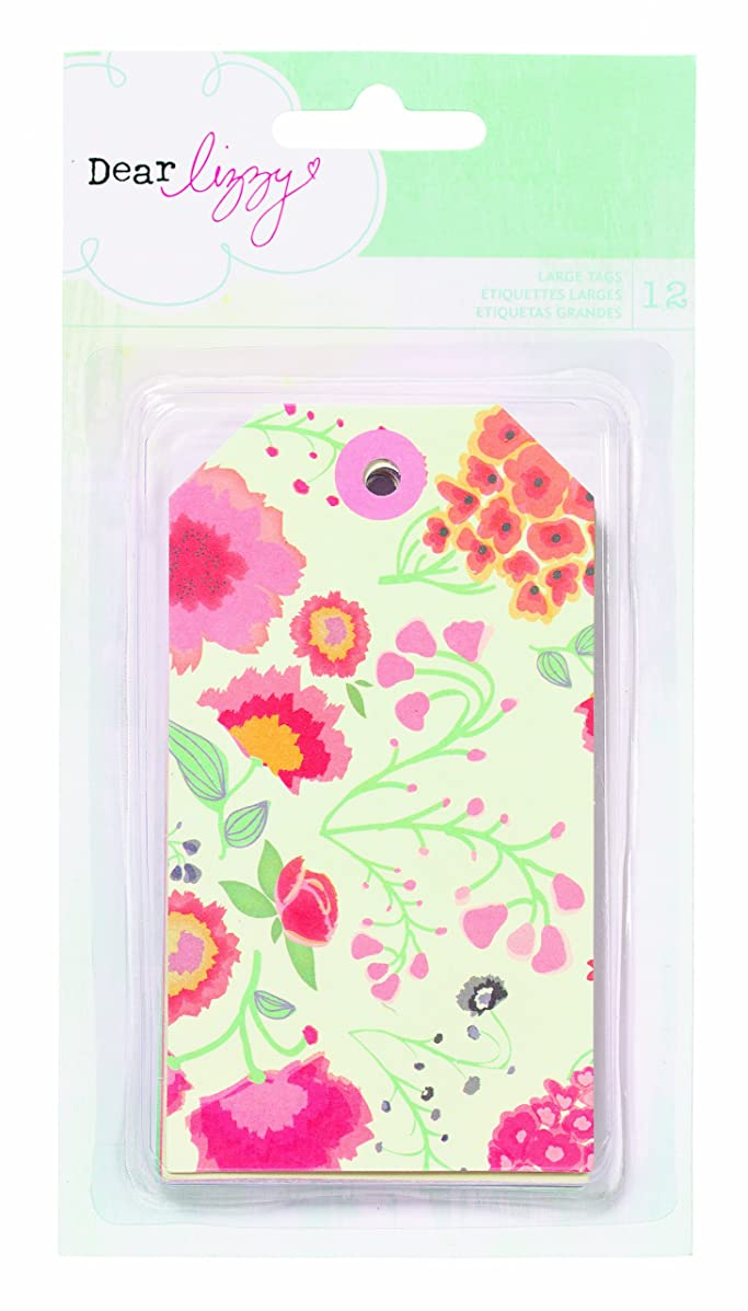 American Crafts Dear Lizzy Lucky Charm Emb Bits Extra Large Tags