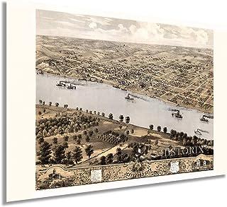 HISTORIX Vintage 1869 Jefferson City Missouri Map - 24x36 Inch Vintage Jefferson City Wall Art - Old Jefferson City Map - ...